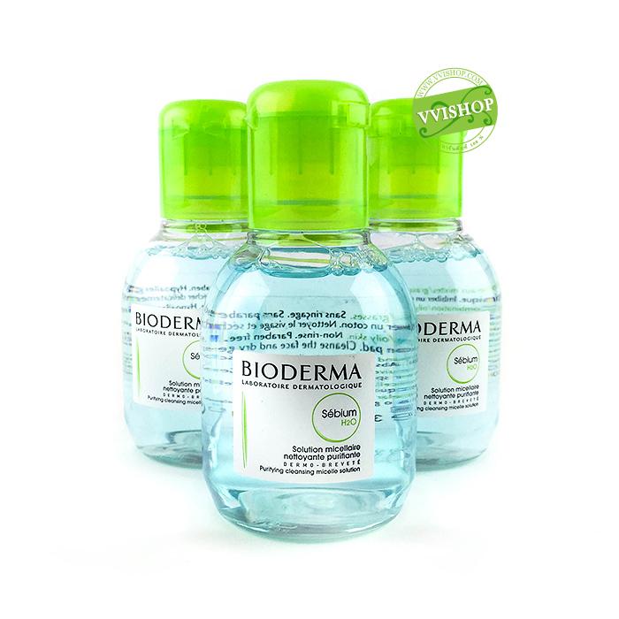 Bioderma Sebium H2O 100 ml Cleansing water คลีนซิ่งทำความสะอาดผิว เหมาะสำหรับคนเป็นสิว ผิวผสม ผิวมัน