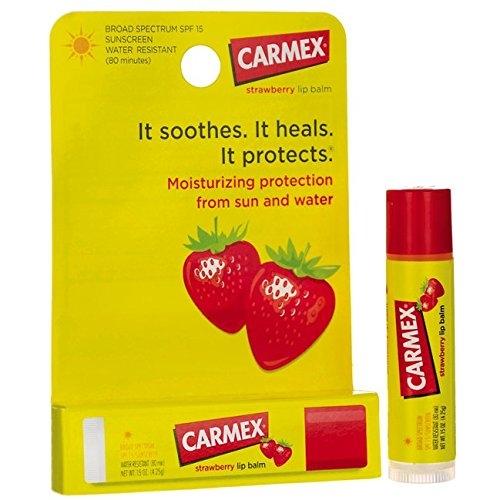 Carmex Strawberry Lip Balm SunScreen 4.25g. แท่งหมุน
