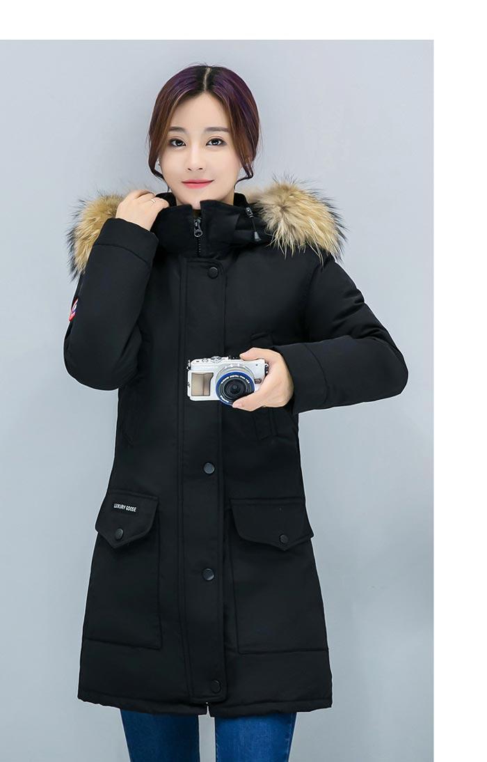 เสื้อกันหนาวผู้หญิงแฟชั่นเกาหลี สีดำ แจ็คเก็ตมีฮู้ด มีเฟอร์ขนสัตว์ ไอเทมเด็ด หนาวนี้ ต้องมี