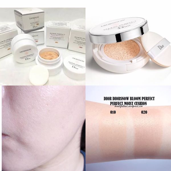 Dior Diorsnow Bloom Perfect Brightening Perfect Moist Cushion SPF50 PA+++ 15 g. # 010 ผิวขาวเหลือง - ชมพู