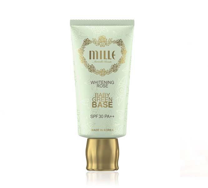 Mille Whitening Rose Baby Green Base SPF30 PA++