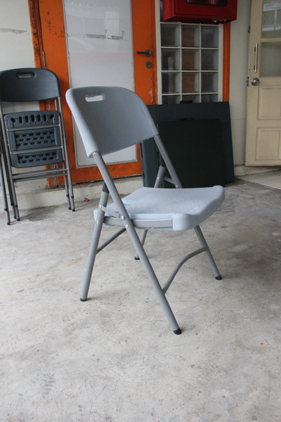 เก้าอี้เดี่ยวพับได้ มีพนักพิง KOMMET HDPE รุ่น HDC-001W