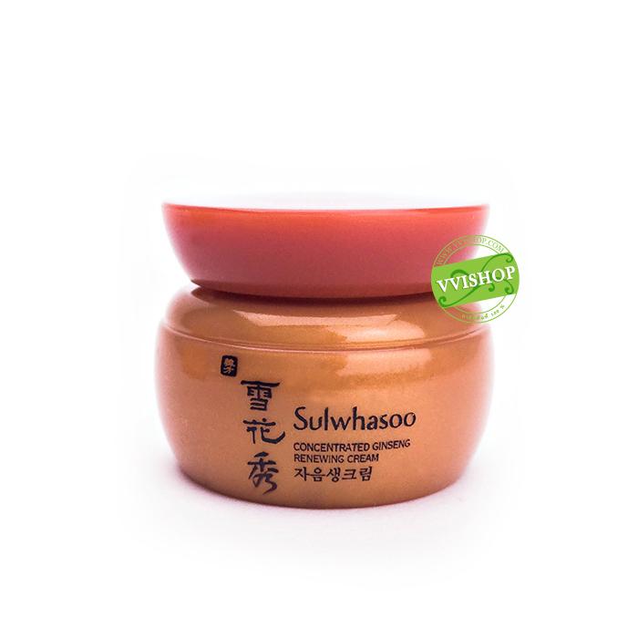 Sulwhasoo Concentrated Ginseng Renewing Cream 5 ml. อุดมด้วยส่วนผสมเข้มข้นของโสม บำรุงผิวได้อย่างล้ำลึก ลดเลือนริ้วรอยแห่งความร่วงโรย