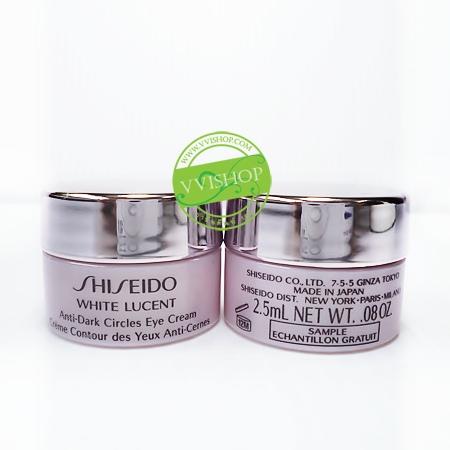 Shiseido White Lucent Anti-Dark Circles Eye Cream 2.5 ml อายครีมสูตรเข้มข้น ฟื้นบำรุงรอยคล้ำรอบดวงตา