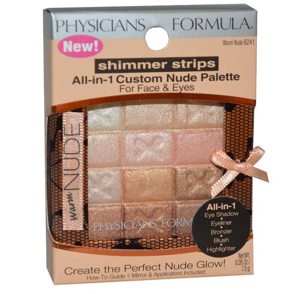 Physicians Formula Shimmer Strips All-in-One Custom Palette for Face&Eyes #Warm Nude 6241
