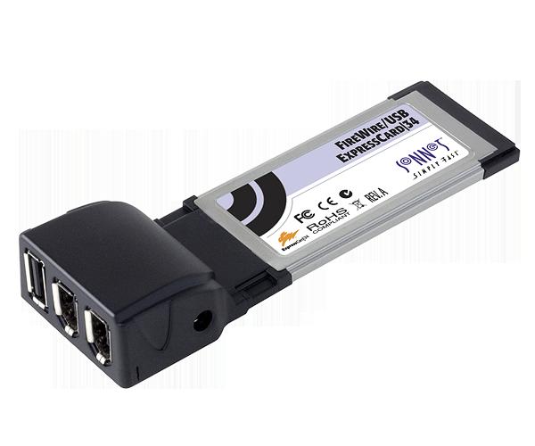 FireWire USB 2 ExpressCard/34 (2 FireWire + 1 USB ports)