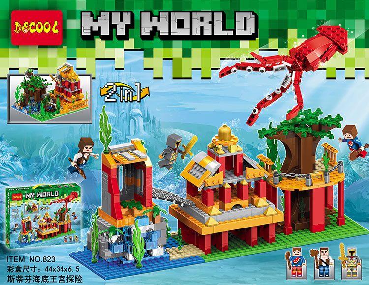 เลโก้จีน Decool 823 Minecraft Under Sea