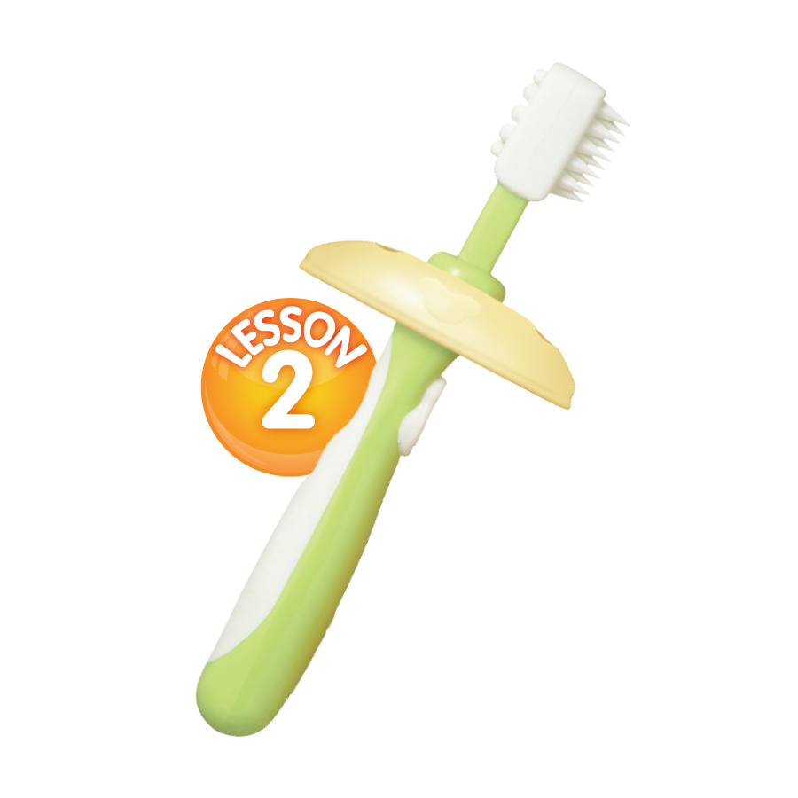 แปรงสีฟันสำหรับเด็กทารก พีเจ้น step 2