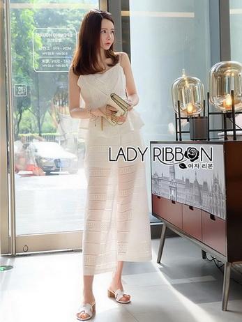 Ruffle Lady Ribbon Top and Pants Set