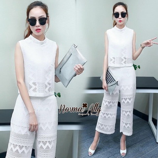 Lady Ribbon Online ขายส่งเสื้อผ้าแฟชั่นออนไลน์ เสื้อผ้า Normal Ally NA13080816 &#x1F389Normal Ally Present lace prince summer set &#x1F389