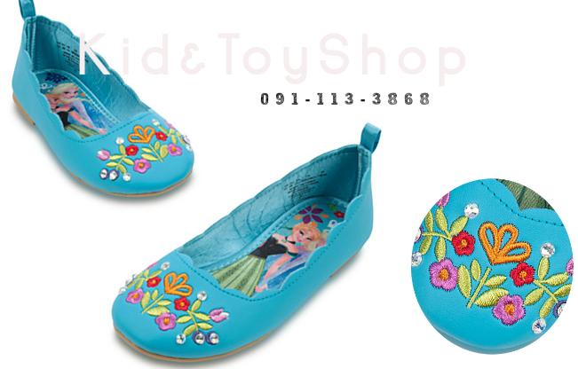 รองเท้าคัดชูเด็กAnna and Elsa Flats for Kids 9/10 (16-17cm)