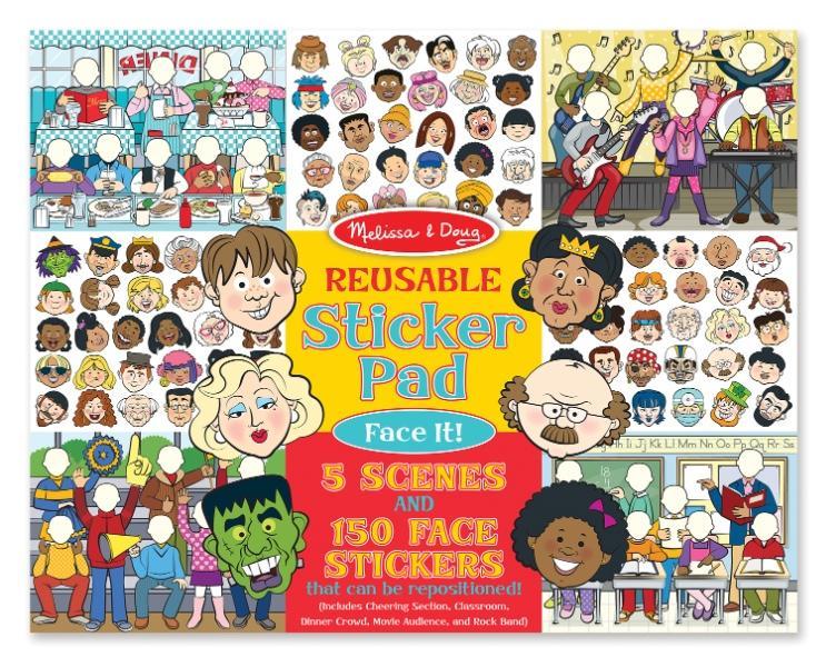 สมุดสติกเกอร์ลอกได้ Melissa & Doug Reusable Sticker Pad Face It!