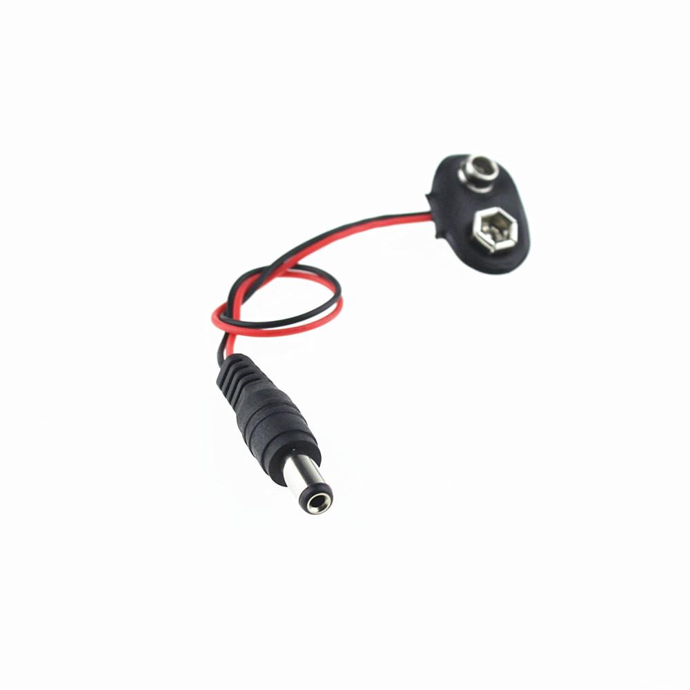 DC2.1MM Headphone Plug 9V Battery Snap Line T-shaped Test DC Power Plug