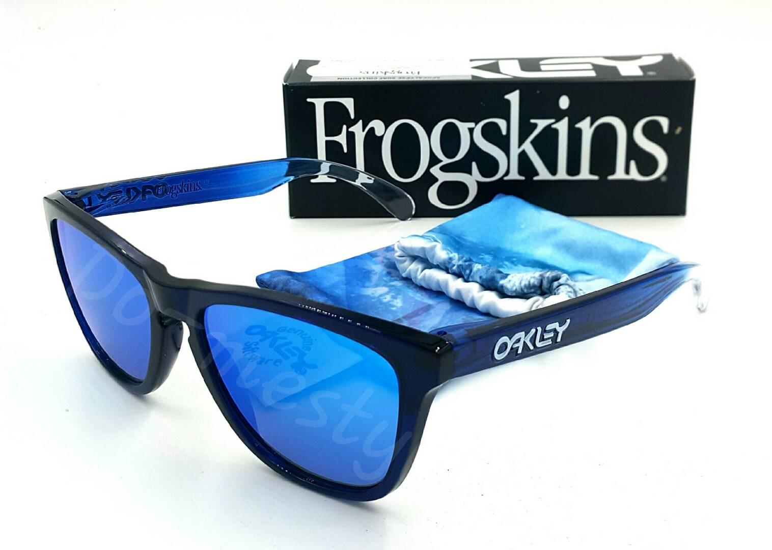 9da21ac1734 OAKLEY ALPINE FROGSKINS BLUE W  SAPPHIRE IRID OO9013-74