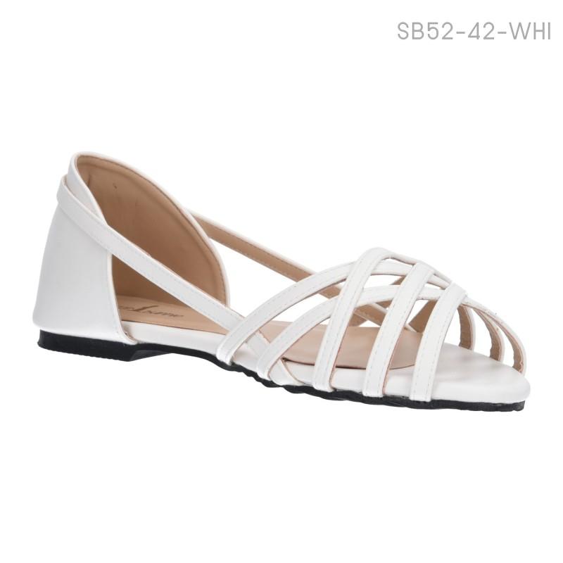 ลดล้างสต๊อก รองเท้าส้นแบน SB52-42-WHI [สีขาว]