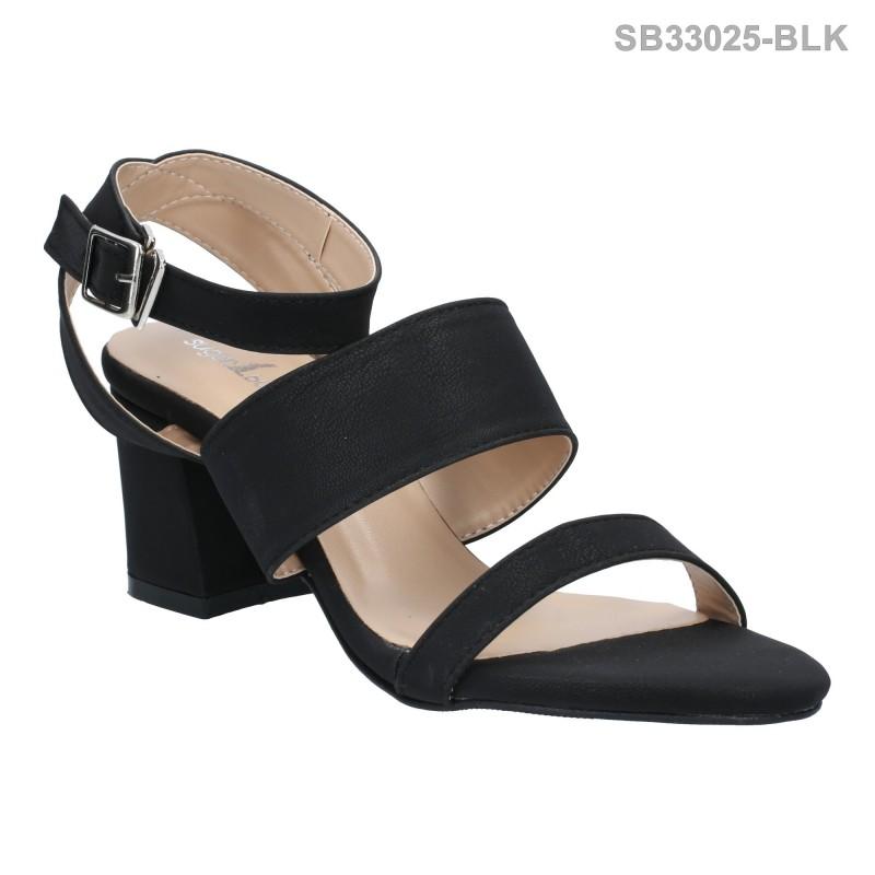 ลดล้างสต๊อก รองเท้าส้นสูงแฟชั่น SB33025-BLK [สีดำ]