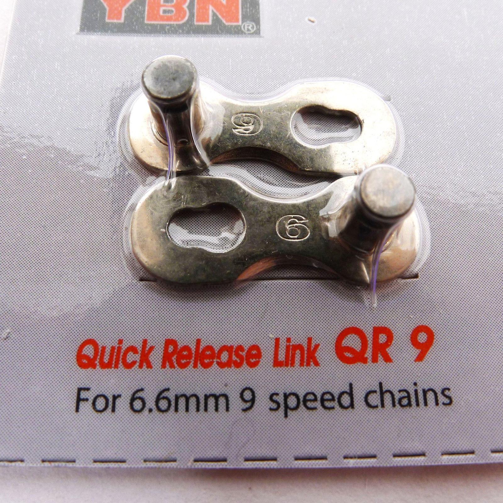 ข้อต่อโซ่ปลดเร็ว YBN 9 สปีด แบบแพ็ค