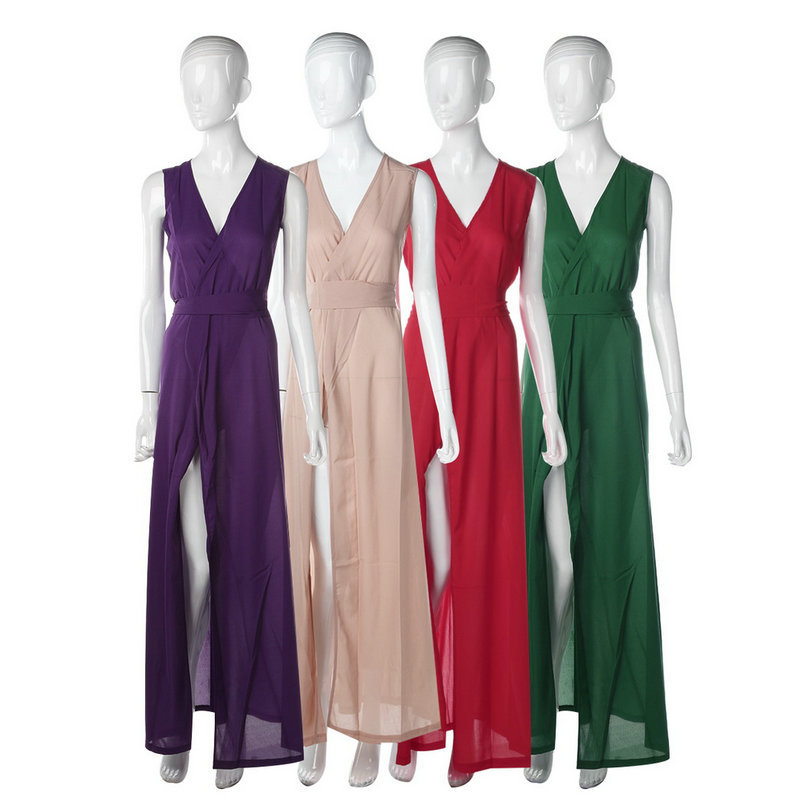 (Pre Order) สไตล์เซ็กซี่ชีฟองสายคล้อง Maxi Dress มี 4 ให้เลือก ขนาดไซส์ S,M,L,XL