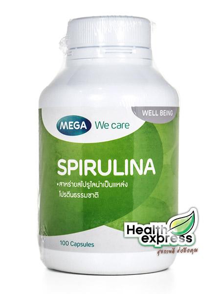 Mega We Care Spirulina 500 mg. เมก้า วี แคร์ สไปรูลิน่า บรรจุ 100 แคปซูล