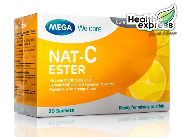 Mega We Care Nat-C Ester เมก้า วี แคร์ แนท ซี เอสเตอร์ บรรจุ 30 ซอง