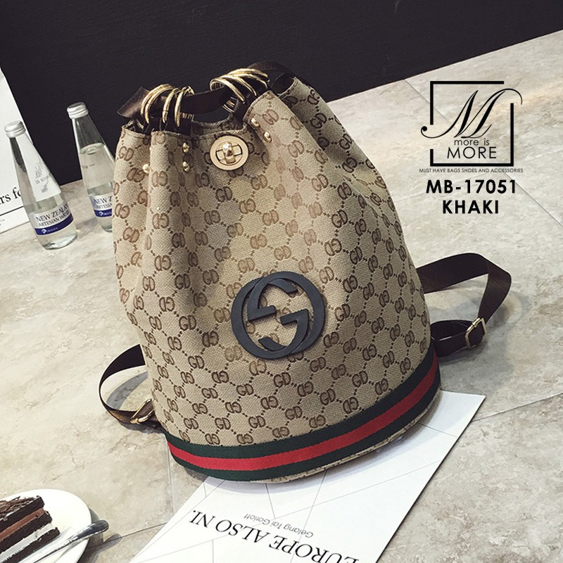 กระเป๋าสะพายเป้ เป้แฟชั่นนำเข้างานสุดเก๋ส์...สไตล์แบรนด์ดัง MB-17051-KKI (สีกากี)