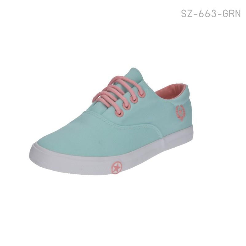 พร้อมส่ง รองเท้าผ้าใบแฟชั่น SZ-663-GRN [สีเขียว]