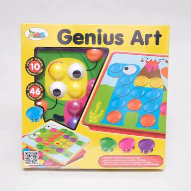 ของเล่นเสริมพัฒนาการ ปักหมุดตามสี Genius Art