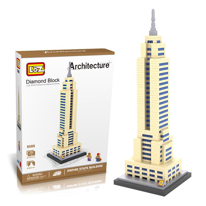 มินิบล็อก LOZ เลโก้จีน 9388 ราคาถูก Empire State Building กล่อง