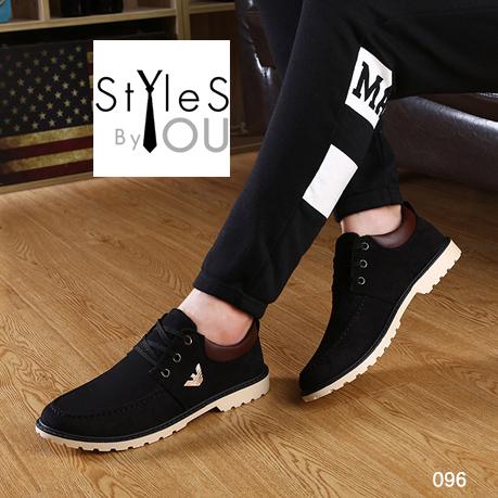 รองเท้าผ้าแฟชั่นผู้ชาย วัสดุหนังกำมะหยี่ สไตล์ ARMANI มี 2 สี
