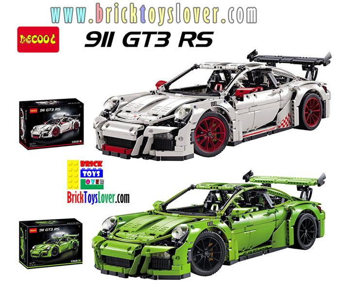 3368 ของเล่นตัวต่อรถพอร์ช สปอร์ต Porsche 911 GT3-RS Sports Car