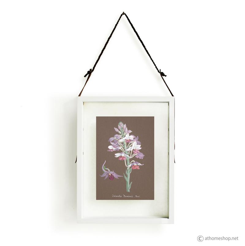 กรอบรูปกระจกคู่แขวนผนังวอลล์อาร์ตลายดอกไม้