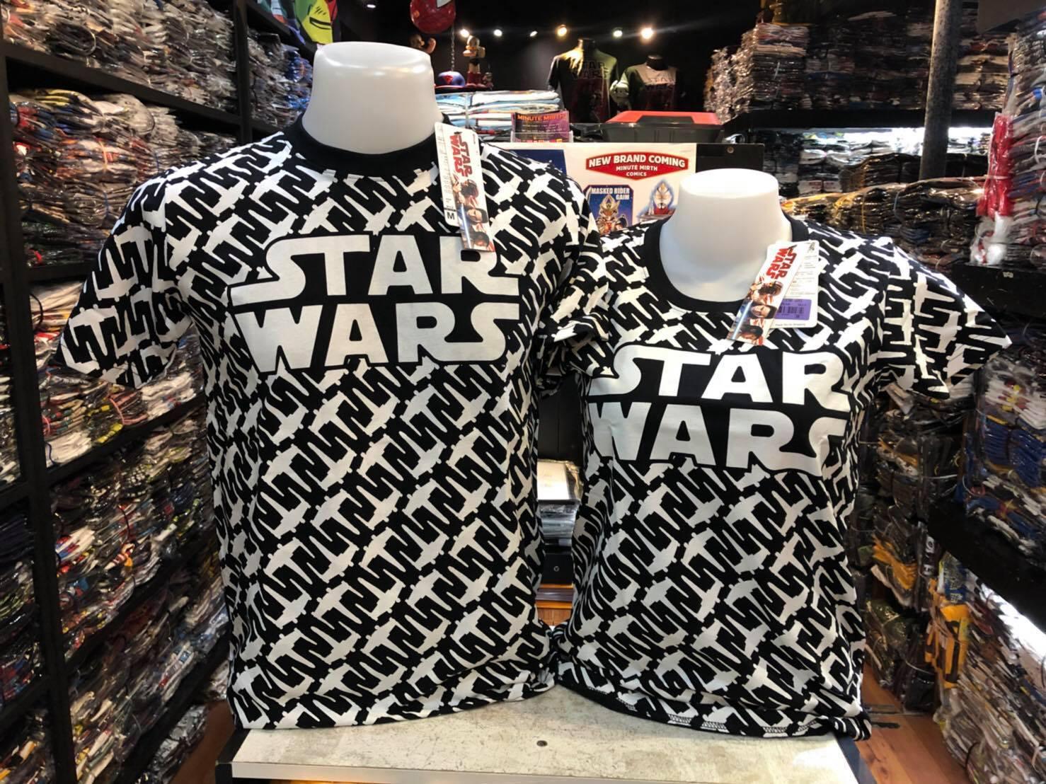 สตาร์วอร์ สีดำ (Star wars logo black white wars ship)