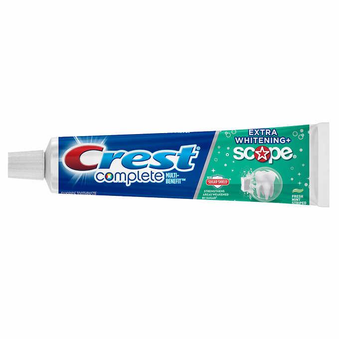 Crest complete extra whitening + scope 8.2 oz.(232 g.) (ไม่มีกล่อง)ใช้แล้วฟันขาว สะอาด สดชื่นสะอาดมากๆๆ หลอดใหญ่สุดคุ้มจากอเมริกาค่ะ