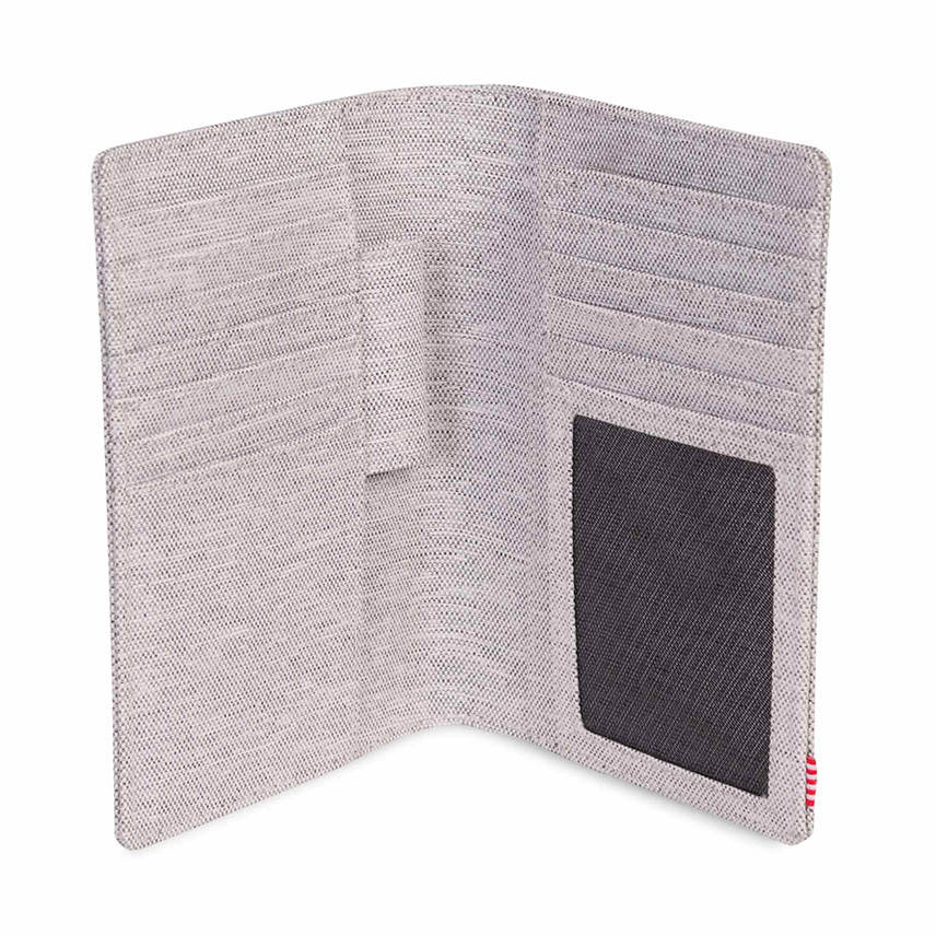 Herschel Search Passport Holder - Light Grey Crosshatch / RFID - ด้านใน