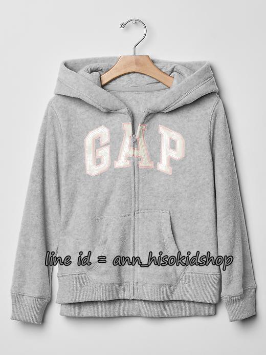 1196 Gap Kids Hoodied Jacket - Grey ขนาด 14-16 ปี (ฟรี ลทบ)