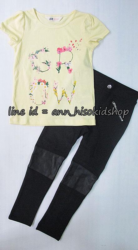 SP013 H&M T-Shirt + H&M Black Legging sz 4-6,6-8 ปี