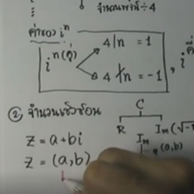 คอร์สติวสอบคณิตPAT1สรุปเนื้อหา จำนวนเชิงซ้อน