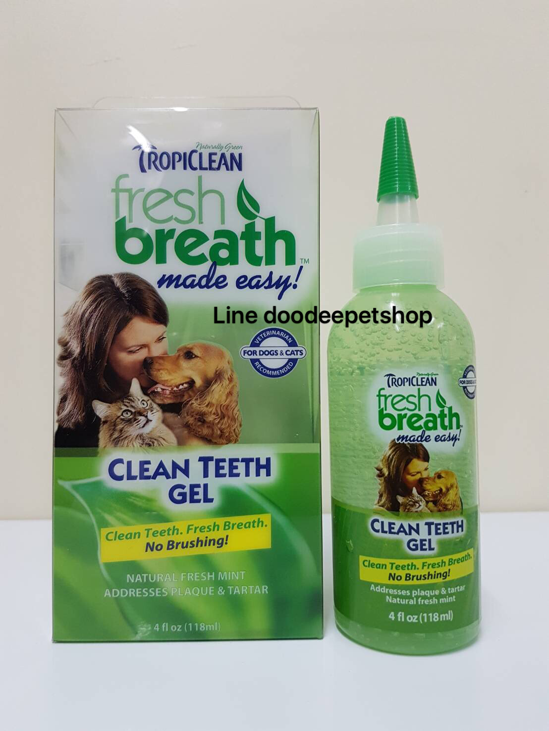 Tropiclean เจลป้ายฟัน ลดคราบหินปูน ลดกลิ่นปาก สำหรับสุนัขและแมว ขนาด 59 มล.