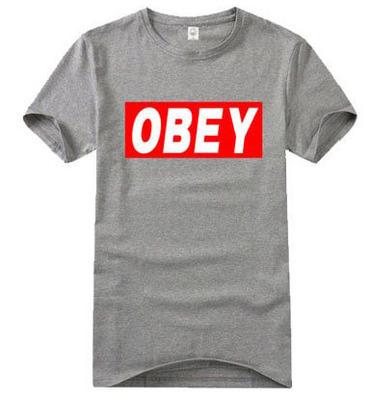 เสื้อยืดแฟชั่น SNSD OBEY 2014 (สีเทา)