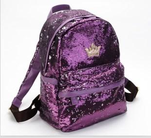 J.estina กระเป๋าแฟชั่นเลื่อมสีม่วง