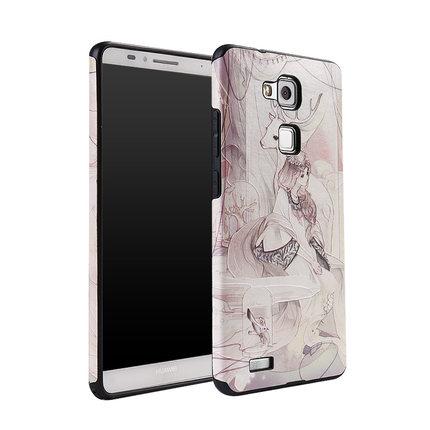 เคส Huawei Mate 7 พลาสติกสกรีนลายกราฟฟิกน่ารักๆ ไม่ซ้ำใคร สวยงามมาก ราคาถูก (ไม่รวมสายคล้อง)