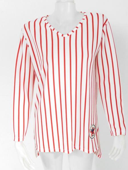 1009094 ขายส่งเสื้อผ้าแฟชั่นเสื้อยืดแขนยาว ผ้าเนื้อดีใส่สบายๆค่ะ งานสวยมากค่ะ รอบอก 44 นิ้ว ยาว 31 นิ้ว