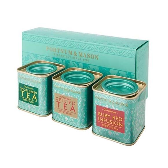 Fortnum & Mason : Three Mini Christmas Tea Tins, 3 x 25g