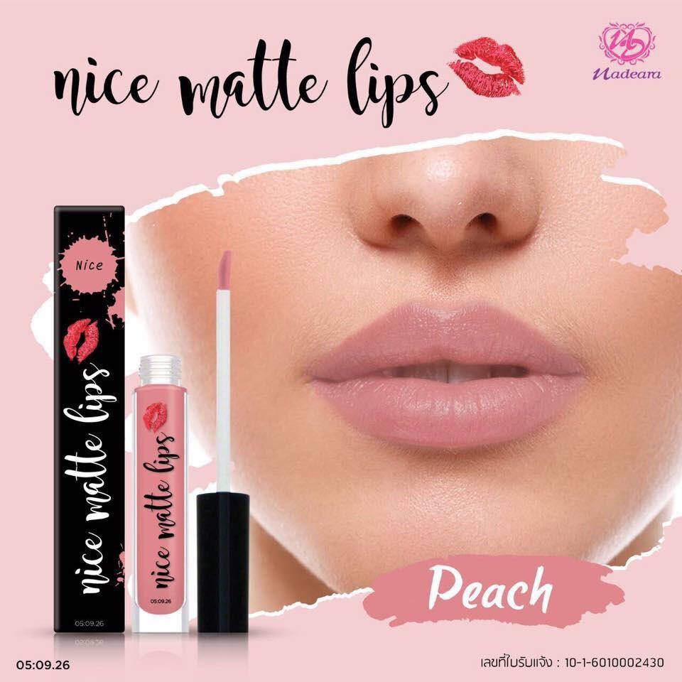 Nadeara Nice Matte Lip.💄👄 สี PEACH