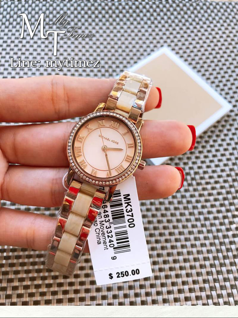นาฬิกาข้อมือ MICHAEL KORS รุ่นPetite Norie Pink Mother of Pearl Dial Ladies Watch - MK3700
