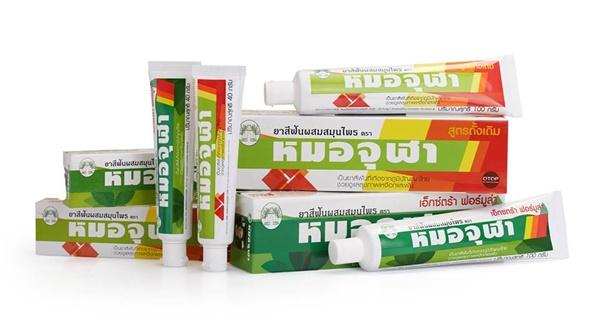 Herbal toothpaste brand Mao jula ยาสีฟันผสมสมุนไพรหมอจุฬา