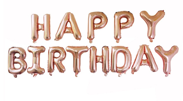 ลูกโป่งฟอยล์ HAPPY BIRTHDAY [ยกเซต] ขนาด 16 นิ้ว-สีแชมเปญ