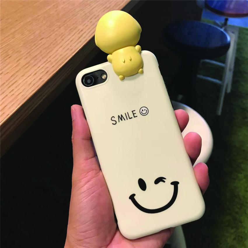 เคส iPhone Smile สีเหลือง มีไฟ Selfie