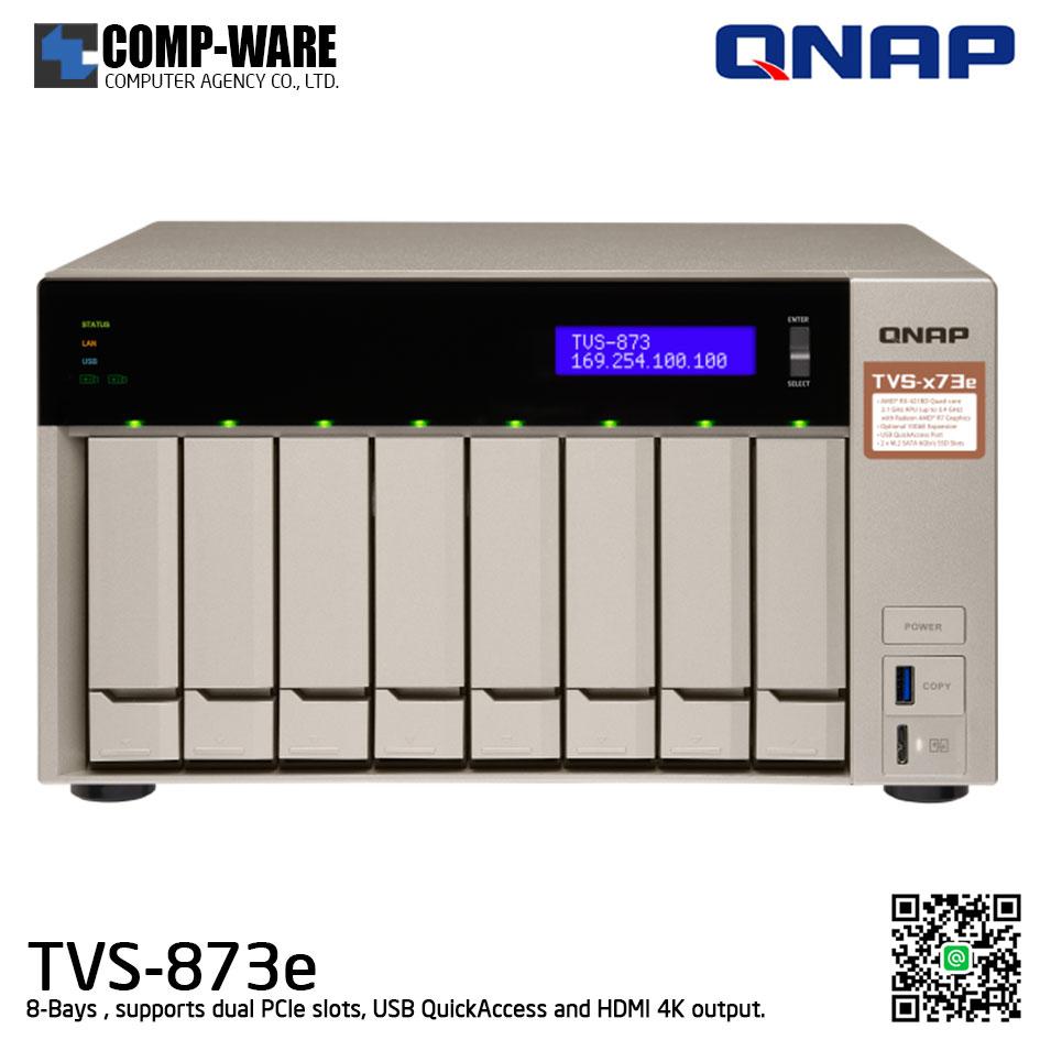 QNAP NAS (8-Bay) TVS-873e (8GB DDR4 RAM)