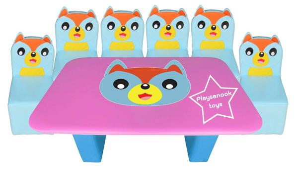 EVF-20 โต๊ะเก้าอี้ครอบครัวหมาป่า
